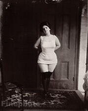 1912 Vintage Female Prostitute By E.J. Bellocq - New Orleans Louisiana Photo Art