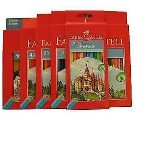 Faber Castell 60 Stifte Buntstifte Set 12 24 36 Malstifte 48er Hexagonal Castle