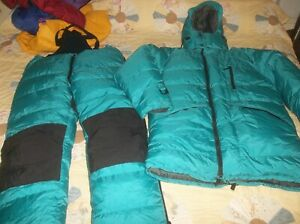 Feathered Friends Rock & Ice Parka AND 40 Below Pant Goose Down Himalayan Suit