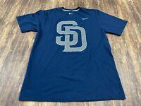 San Diego Padres Men's Blue MLB Baseball Nike T-Shirt - Medium