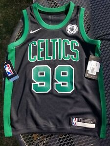 Rare NWT $85 Nike TACKO FALL Earned Edition Black Boston Celtics Jersey Youth S