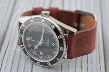Leather Watch strap Handmade 16mm 18mm 20mm 22mm 24mm 26mm Brown