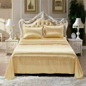 Silky Satin Sheets Set Twin Size Satin Bed Sheets Set Sage Luxury Bedding Sets