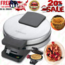 BELGIAN WAFFLE MAKER Rotating Non Stick Cook Round Waffles Breakfast Iron