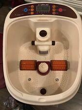 uKnead AiroStream Super Tall Tub Foot Spa Massager W/Temperature TimeSet Bubbles