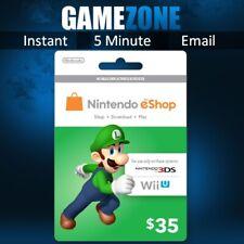 Nintendo eShop Gift Card Code - $35 USD USA e-Shop Switch / 3DS / Wii U Key