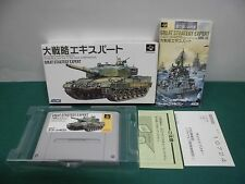 SNES -- GREAT STRATEGY EXPERT -- Boxed. Can be data save! Japan game. 12797