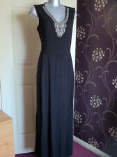 GEORGE BLACK SILVER BEAD CLASSY ELEGANT EVENING CHRISTMAS PARTY LONG DRESS 18
