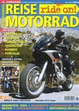 RM0306 + Test YAMAHA FZ6 Fazer + BMW R 1200 C Montauk + REISE MOTORRAD 6 2003