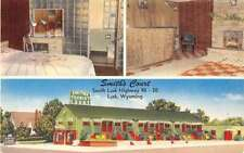 Lusk Wyoming Smiths Court Multiview Linen Antique Postcard K18722