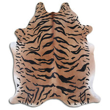 Real Cowhide Rug Bengal Tiger Size 6 by 7 ft, Top Quality, Large Size