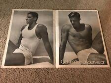 Vintage 1980s CALVIN KLEIN UNDERWEAR Poster Print Ad SHIRTLESS MALE MAN MEN RARE