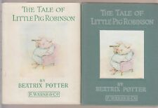 VG 1930 old RARE HC dj Paste-on EARLY Edition Tale Pig Robinson Beatrix Potter