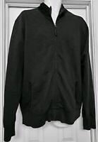 Billy Reid Men's Cotton Blend Knit Black Full Zip Bomber Jacket XXL $365