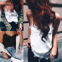 Casual Women V-Neck Vest Summer Loose Chiffon Sleeveless T-Shirt Top Blouse