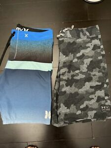 Under Amour - Hurley Swim Trunks Board Shorts 34-L Lot