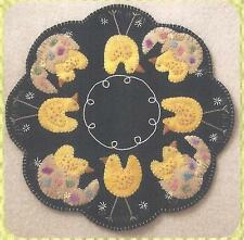 It's Spring Chicks felted wool applique quilt pattern  by Cath's Pennies Designs