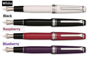 NEW Sailor Pro Gear Slim Silver 4 Colors Fountain Pen
