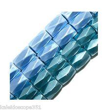 MAGNETIC HEMATITE BEADS 18 FACET 6X8MM MEDIUM BLUE AA AAA DIAMOND CUT HIGH POWER