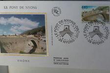 ENVELOPPE PREMIER JOUR SOIE 1995 LE PONT DE NYONS