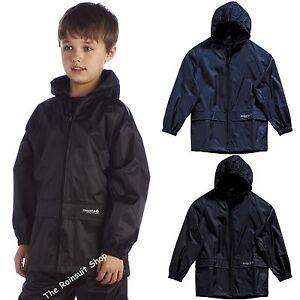 KIDS REGATTA CHILDREN STORMBREAK  WATERPROOF JACKET BOYS GIRLS CHILDS RAIN COAT