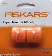 FISKARS PAPER TRIMMER BLADES 9675T euro , triple track,pack of 2 blades