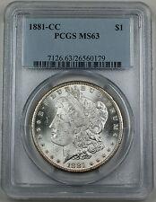 1881-CC Morgan Silver Dollar, PCGS MS-63 Blast White Brilliant Coin