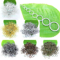 100pcs 3mm - 14mm Open Jump Rings Split findings Jewelry Making Craft Round Oval