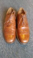 Johnston & Murphy Passport Brown Oxfords Shoes Made in Italy 11.5 M US 10.5 UK