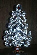 12 Gorgeous Large Rhinestone Christmas Tree, Garland Tree, Vintage Handmade