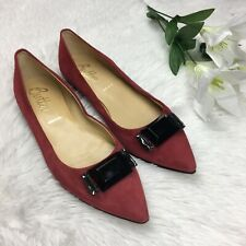Butter Italy Women's Pointed Toe Leather Suede Vero Cuoio Flat Shoes Size 8.5