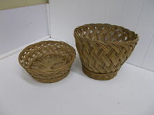 KW-95 MATCHING SET OF 2 BASKETS CRAFT WOVEN WICKER NICE