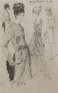 VINTAGE 1960s DRESSMAKING DRESS PATTERN - WOMAN'S WEEKLY B285 UNUSED