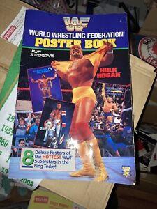 WWF GIANT Sized Poster Book 1991 Titan Sports Wrestling Wrestlemania & Calendar