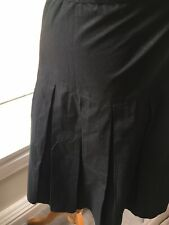 Black Skirt 100% Cotton By  Innocence Size 10 BNWT NEW EUR 36 small petit summer