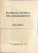 RASSEGNA STORICA DEL RISORGIMENTO. ANNO LI (1964) - 4 Volumi Completo