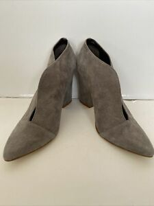 Gorgeous Cindy Says gray suede leather ankle boots booties Sz 8