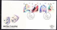 Great Britain 1982 British Theatre First Day Cover - 213b to Australia