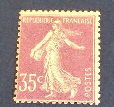 France N° 136 35 C Violet Chiffres Maigres NSG  TB Cote 170€