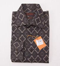 NWT $425 ETRO MILANO Jacquard Print Patterned Cotton Shirt M Button-Front