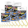 Fishing Hooks size 12-3/0 Iseama Gold Eyed Barbed X-strong Carp Match Sea