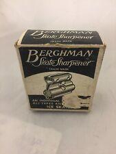 Vintage Berghman Skate Sharpener Original Box Ice skating