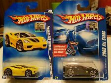 FERRARI 360 MODENA HOT WHEELS 2008 2 CAR LOT FACTORY SEALED ONLY 500 OF EACH!