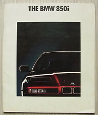BMW 850i Car LF Sales Brochure Jan 1990 #011080121