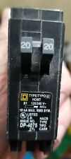 New Circuit Breaker Square D Homeline Homt2020 20 Amp Two 1 Pole Tandem Twin