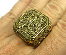 THAILAND AMULET KRUBA KRISSANA MONEY & LOVE BRONZE MAN RING SIZE 11.5 us RAA03