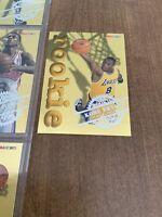 1996 97 HOOPS KOBE BRYANT BLACK MAMBA ROOKIE CARD GOLD EMBOSSED FOIL EXMT CREASE