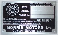 Chassis Plate For Morris Minor MMP3002