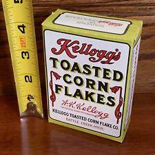 Vintage 1970s Kelloggs Mini Souvenir Toasted Corn Flakes Cereal Box 1977