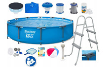 21in1 BestWay SWIMMING POOL 366cm 12FT Garden Round Frame Pool + PUMP + LADDER
